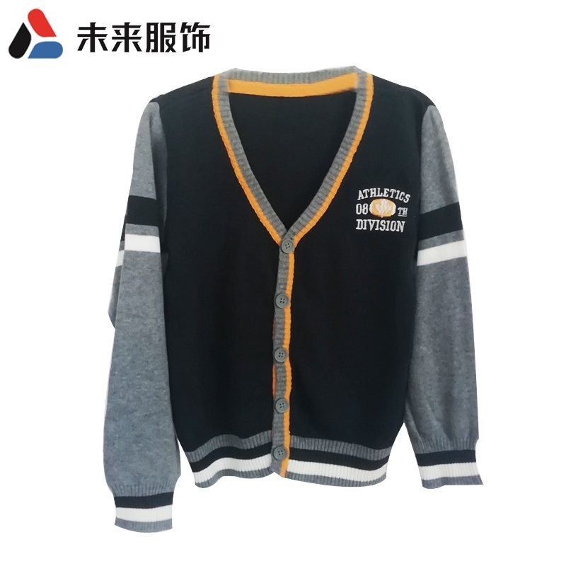 Brand clothing knitted coat